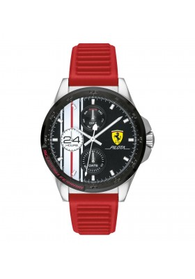 Orologio Multifunzione Uomo Scuderia Ferrari Pilota FER0830657