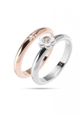 Ring MORELLATO LOVE RINGS ARGENTO ORO ROSA SNA33