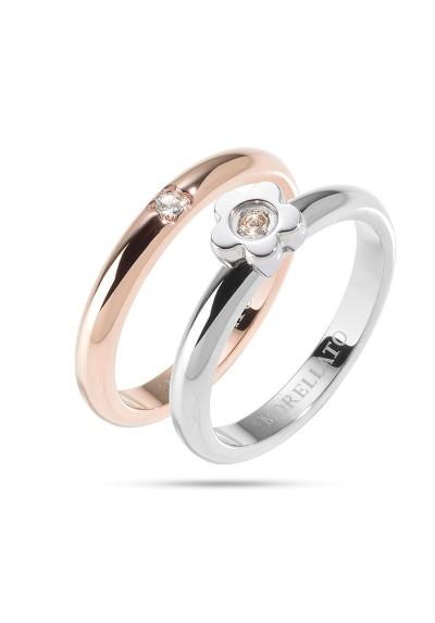 Anneau MORELLATO LOVE Rings ARGENTO ORO ROSA SNA33