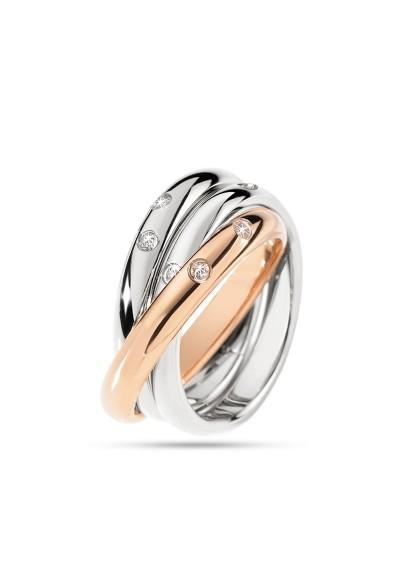 Anneau MORELLATO LOVE Rings ARGENTO ORO ROSA SNA31