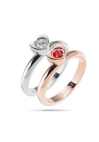 Anneau MORELLATO LOVE Rings ARGENTO ORO ROSA SNA32