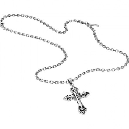 Collier Homme Bijoux Police Blessing Croce S14AEB01P