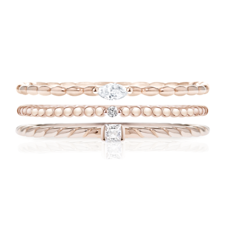 3-PIECE RING SET MORELLATO 1930 SAHA12