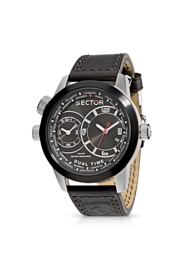 Orologio Dual Time Uomo Sector Oversize R3251102125