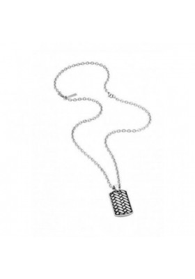 Necklace Man Jewels Police Double Impact S14AMJ02P