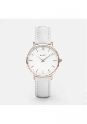 Montre Femme Minuit Cluse Or rose e bianco CLUCL30056