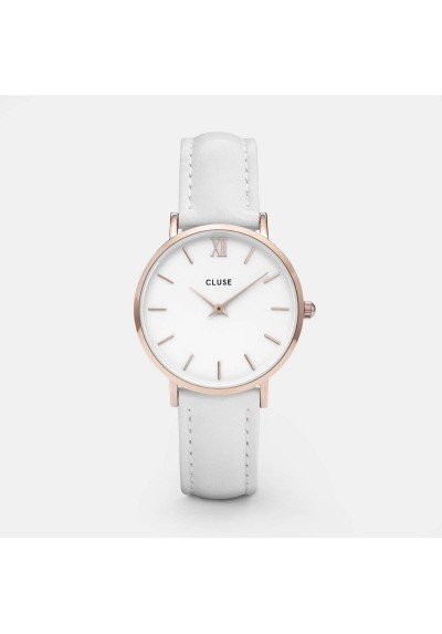 Watch Woman Minuit Cluse pink gold e bianco CLUCL30056