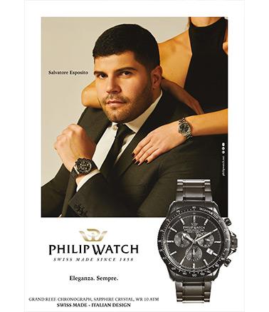 Salvatore Esposito fot Philip Watch on EldoradOJewels.com